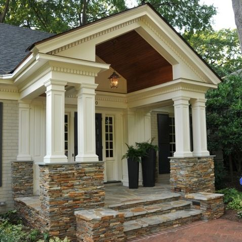 Front Porch Gable Roof Design Ideas Pictures Remodel And Decor