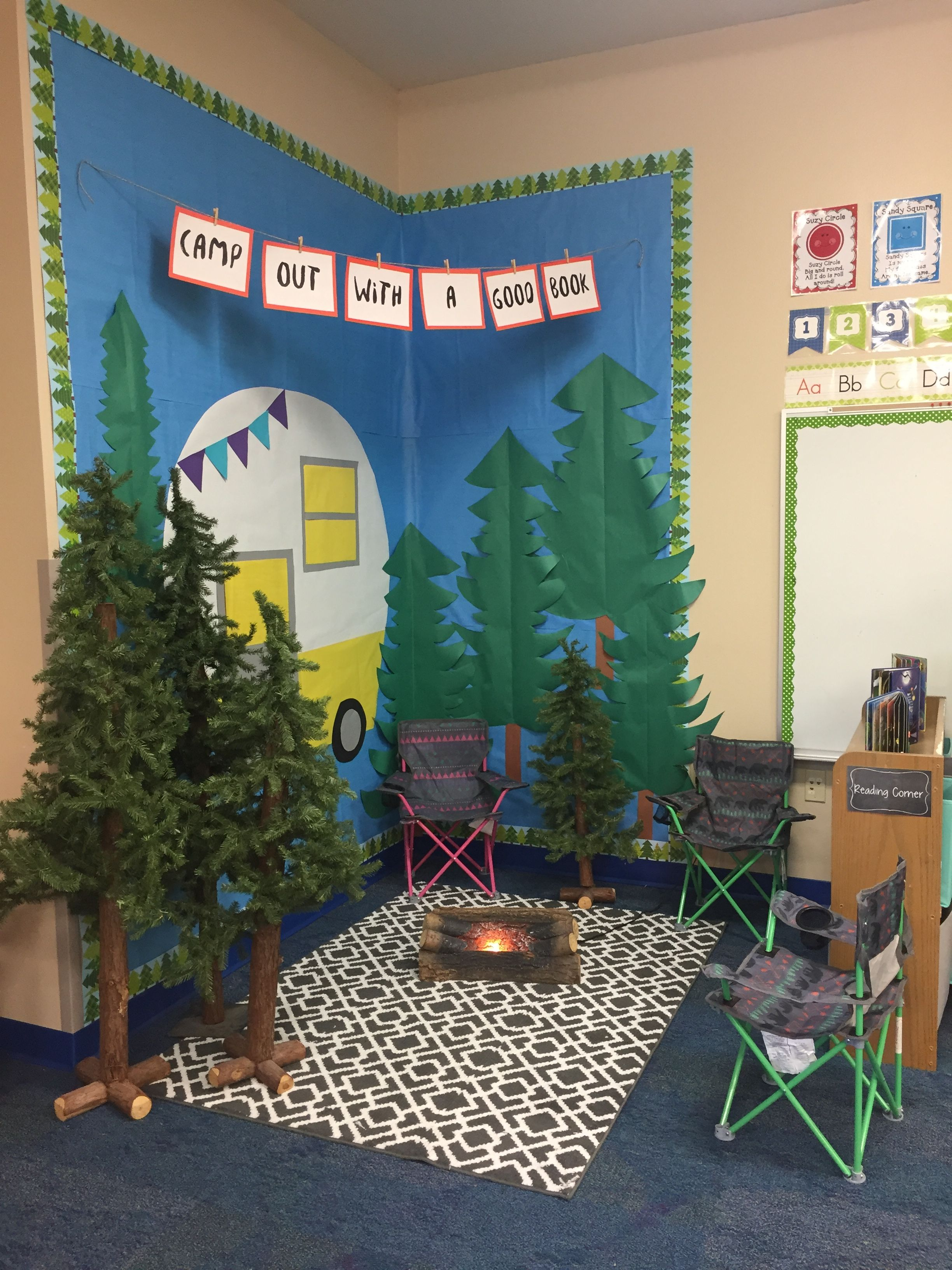 Camping Reading Area Woodland Friends Classroom