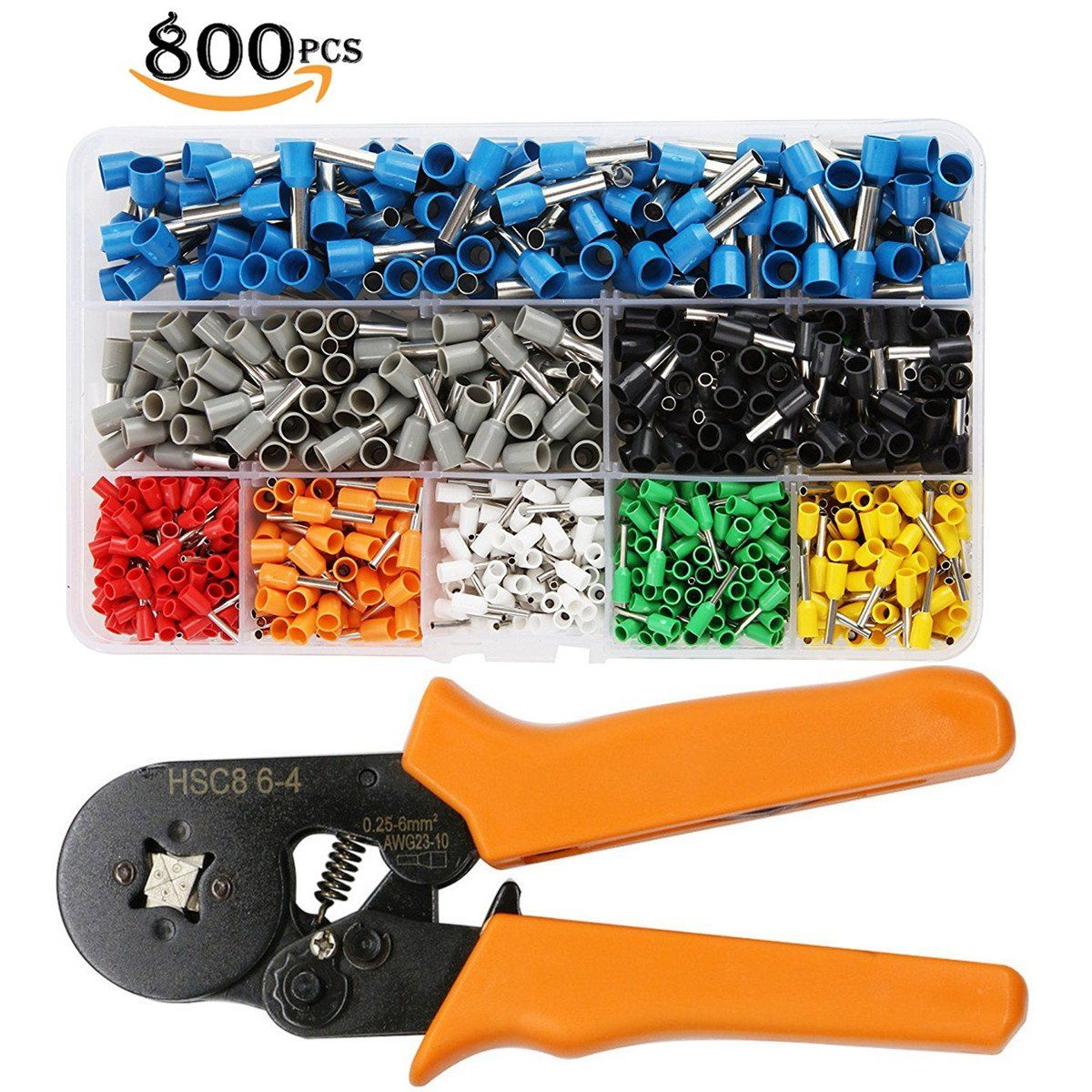 Crimp Tool Kit , JELEGANT Wire Ferrules Kit Crimper Plier Wire ...
