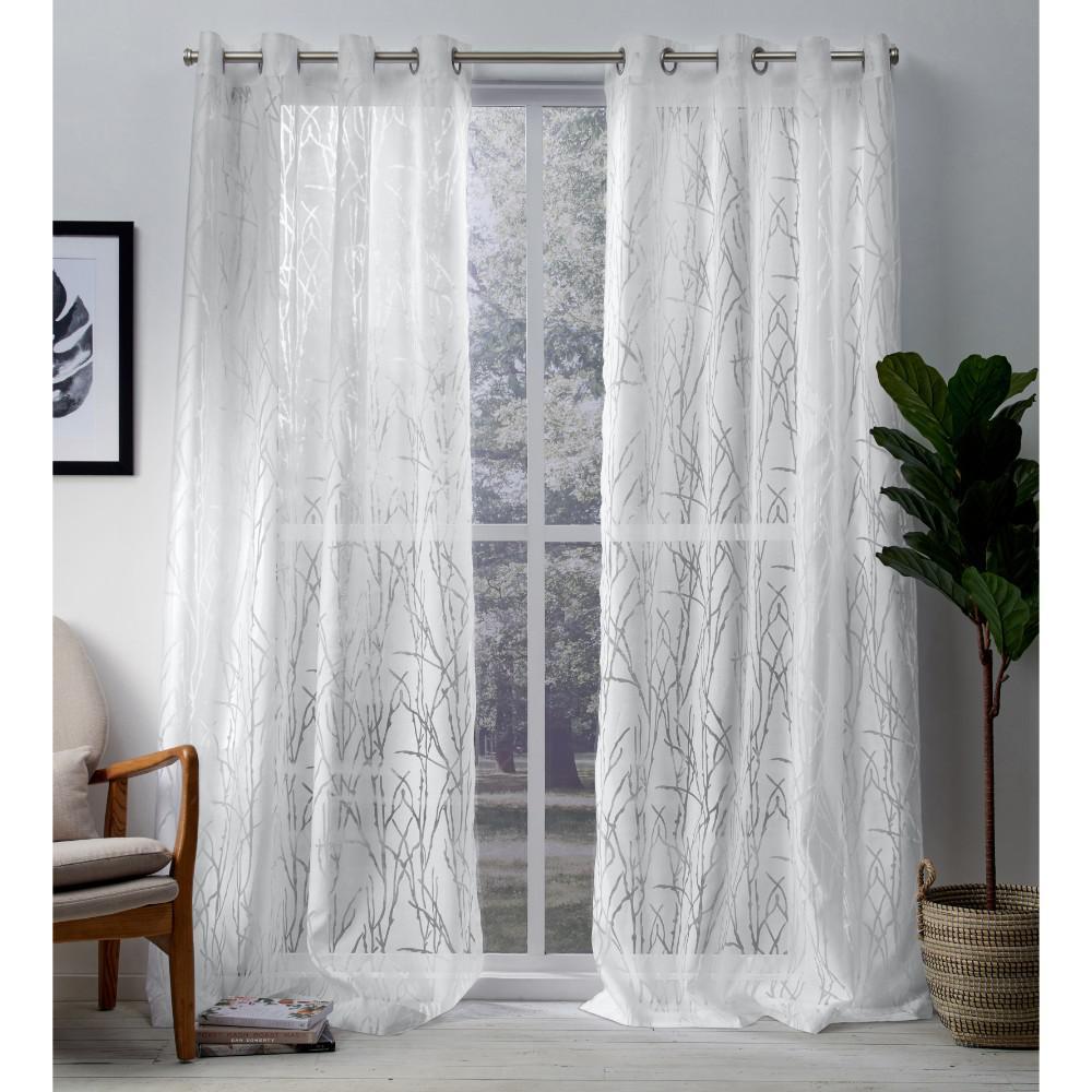 Edinburgh 52 In W X 108 In L Sheer Grommet Top Curtain Panel In