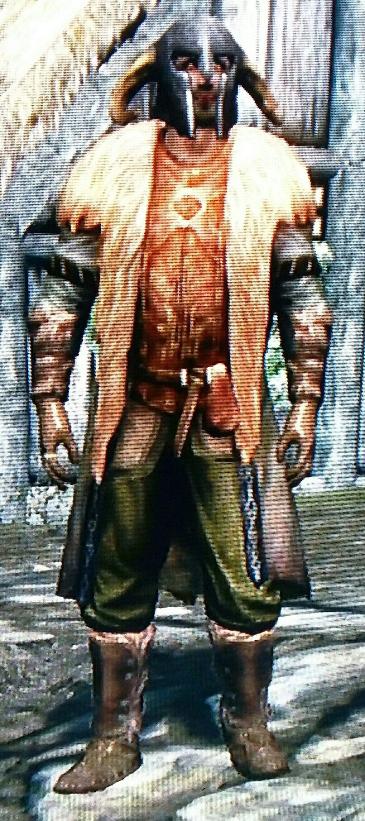 Stark Of Old By Greg Ancient Nord Helmet Fur Trimmed Cloak Fur