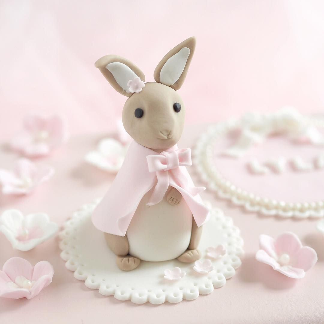 Cute little Flopsy Bunny cake topper I've made one of ...