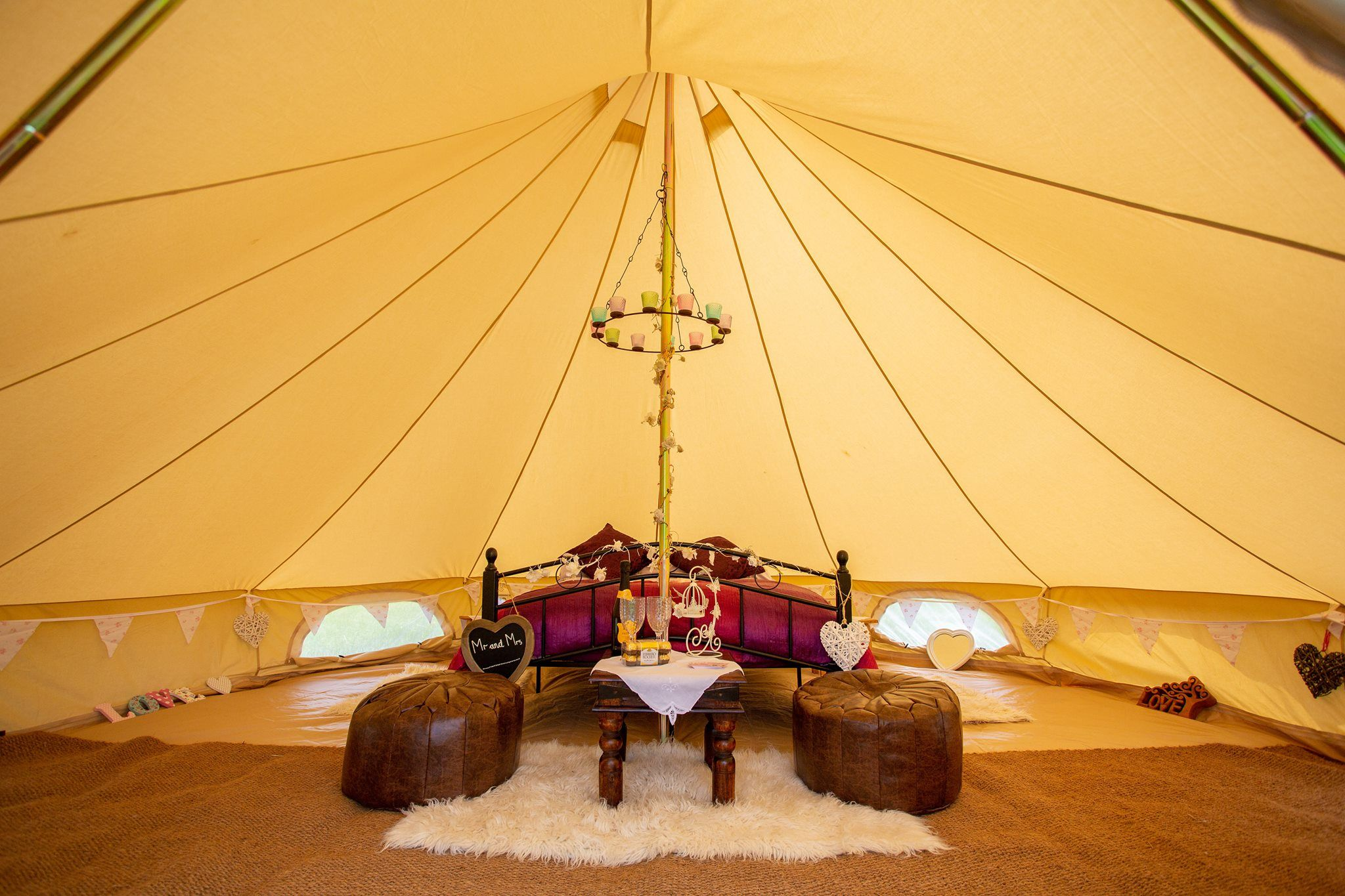 Faraway Hideaway Bell Tents, Newent, Herefordshire