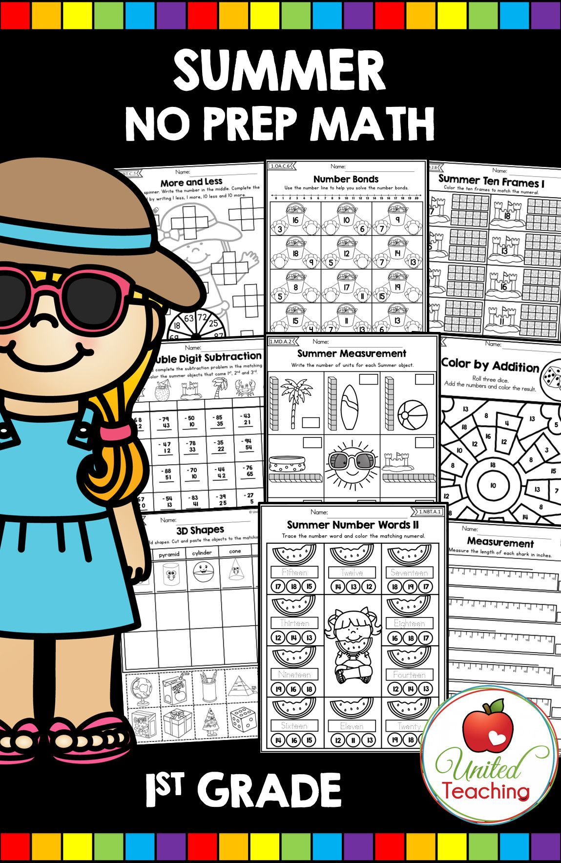 6 Summer Math Worksheet In