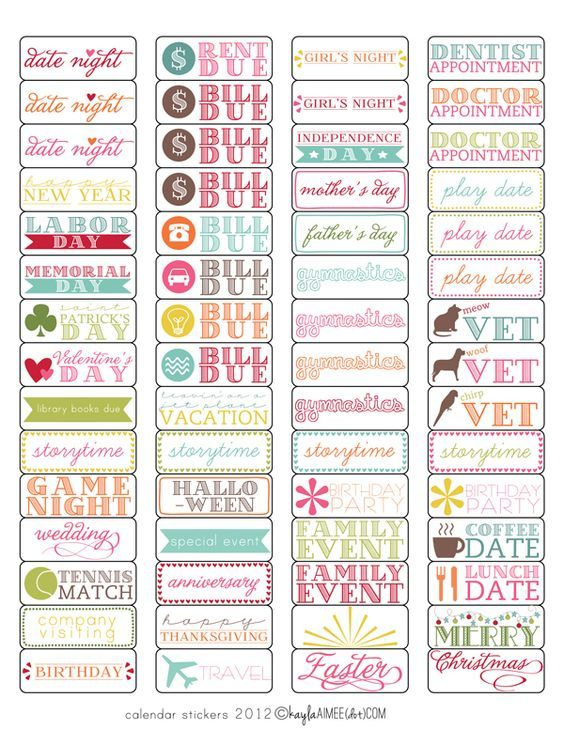 free calendar labels print on avery 1895 labels to use in your