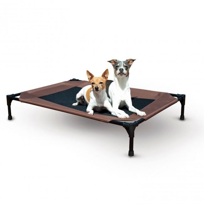 K H Pet Products Chocolate Pet Cot Outdoor Dog Bed Cool Dog
