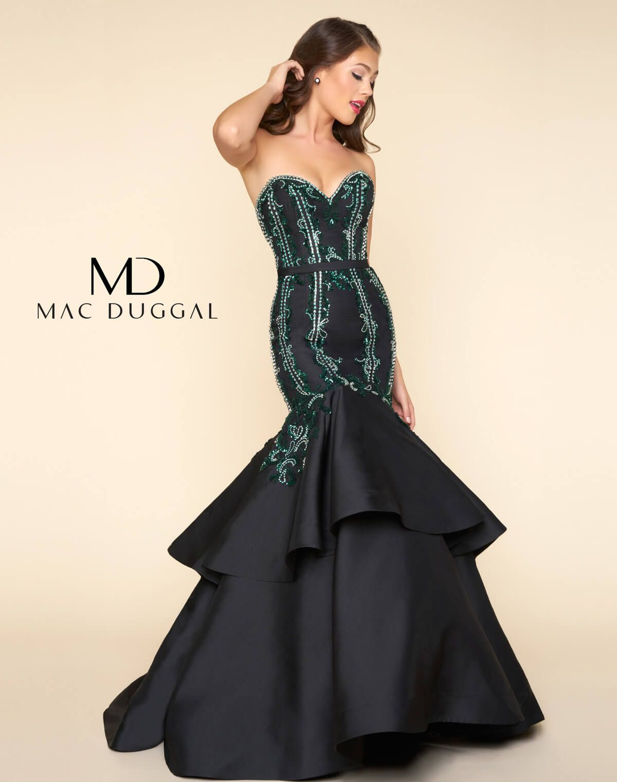 Strapless sweetheart neckline mermaid prom dress with pleated
