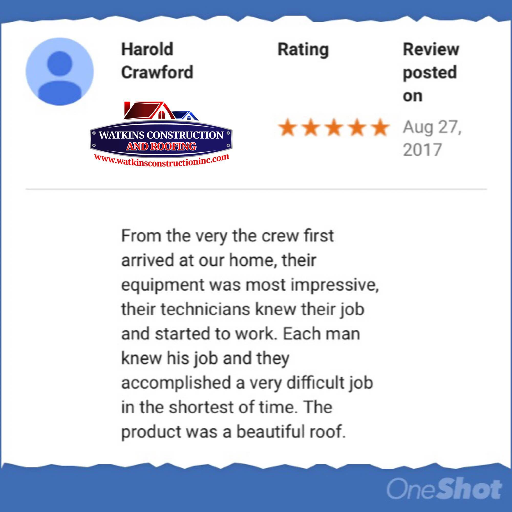 CHECK OUT OUR LATEST REVIEW! www.watkinsconstructioninc