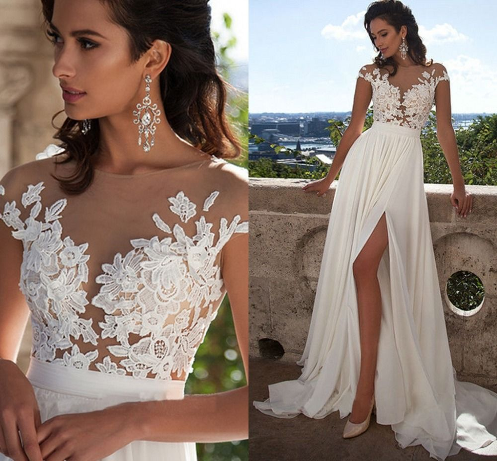 Beach wedding dresses sexy vintage boho wedding dresses chiffon