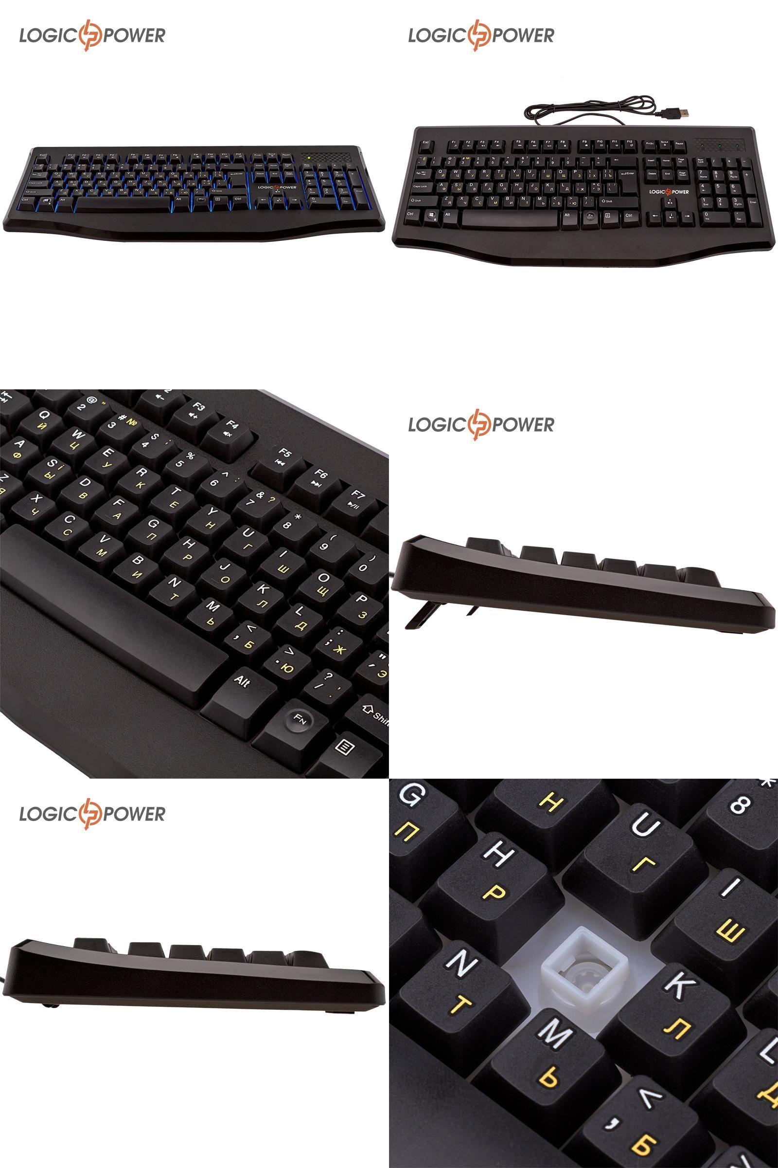 5b0be80f175 [Visit to Buy] LOGIC POWER Original Backlight Keyboard English Russian  wired USB Gaming Keyboard #4915 #Advertisement