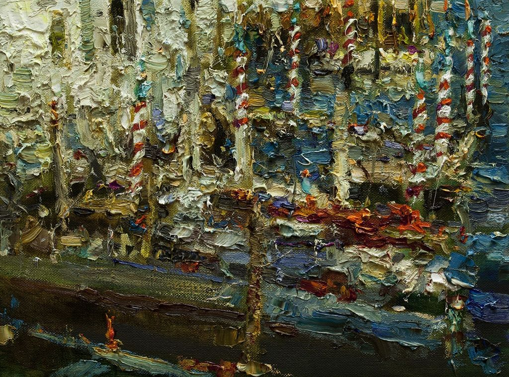 "Venice Colors, 12"" x 16"", Oil, 2015"