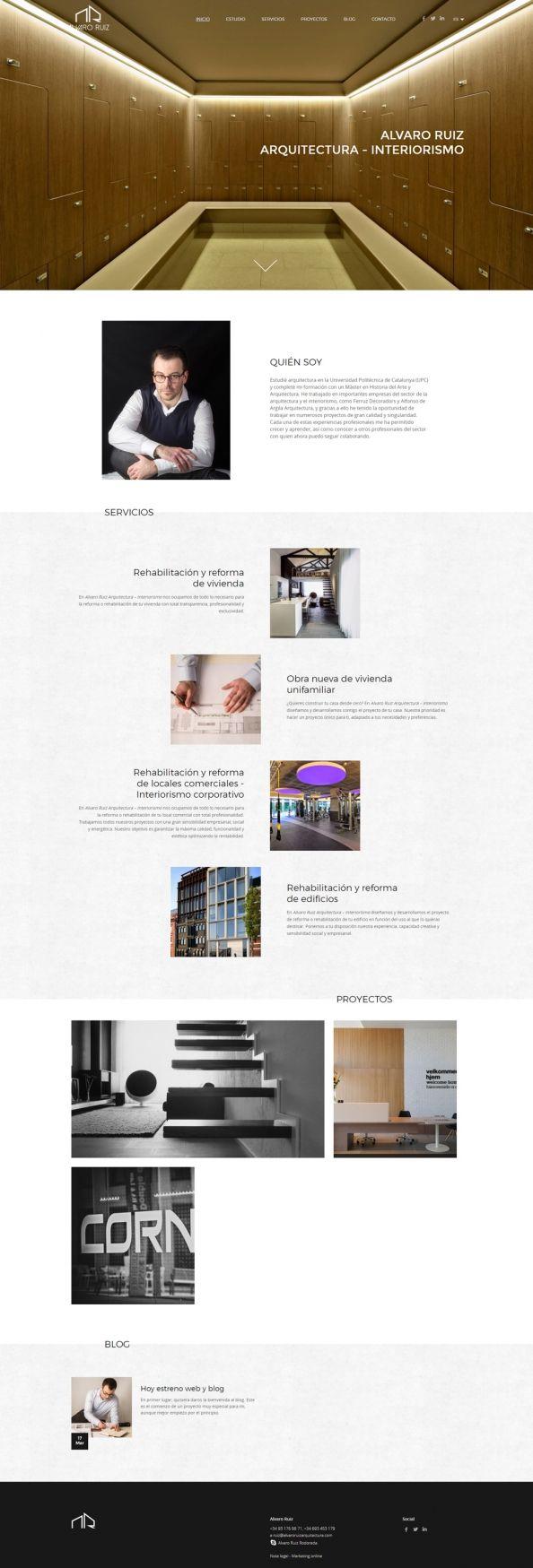 Dise o web para lvaro ruiz arquitectura portafolios for Arquitectura pagina web