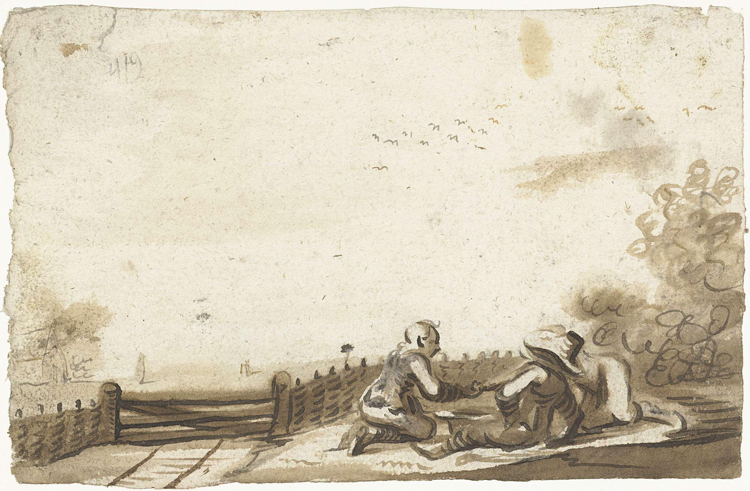 Harmen ter Borch | Drie jongens bij een hek, Harmen ter Borch, c. 1653 |