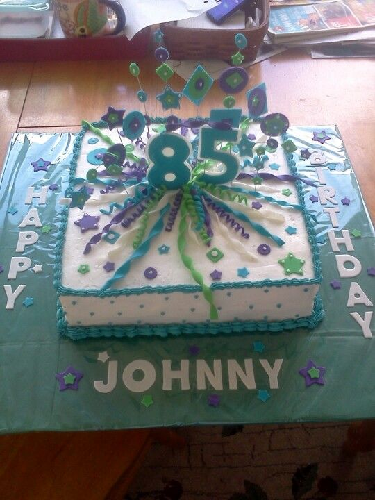 85th Birthday Cake 85th Birthday Party Ideas Birthday Desserts