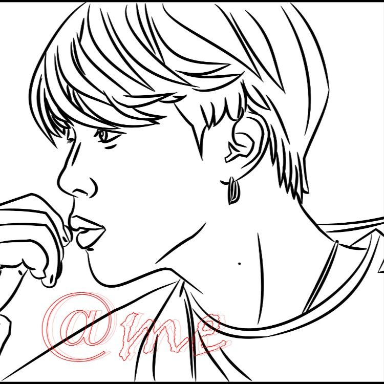 Bts Coloring Book Digital Etsy Coloring Books Coloring Pages Color