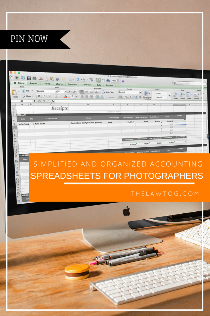 Accounting Spreadsheet | Biz of Photography | Photography