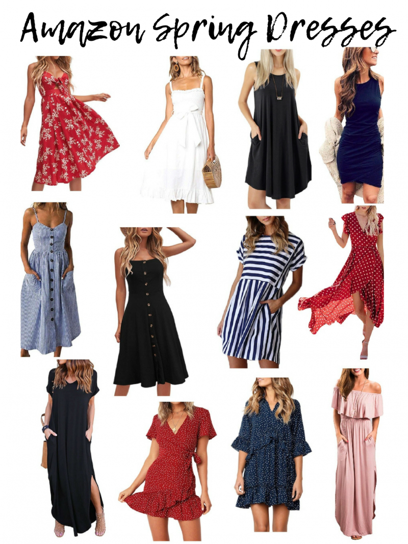 Affordable And Trendy Spring Dresses From Amazon Amazon Dresses Trendy Spring Dresses Spring Dresses