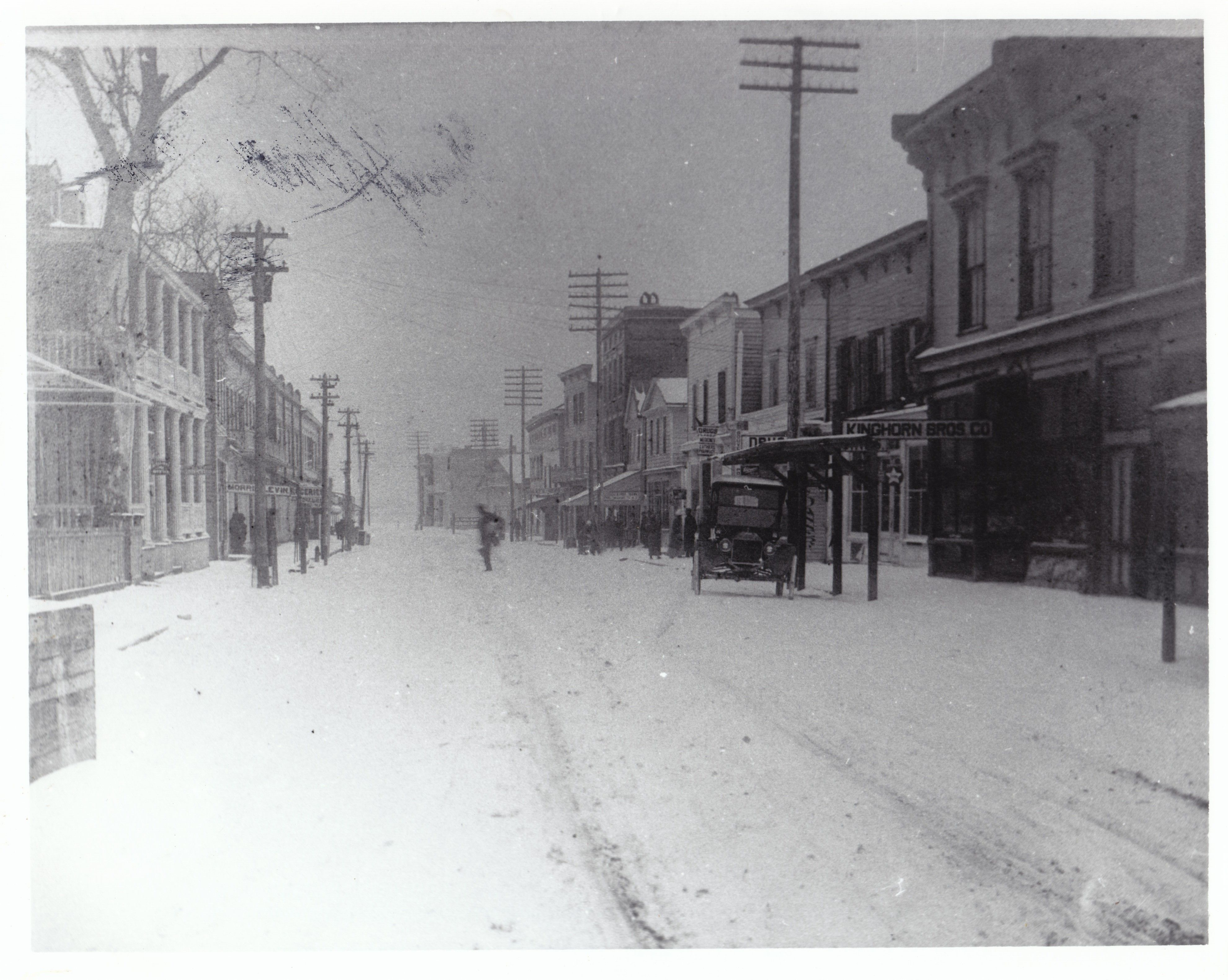 Snow On Bay Street Downtown Beaufort Sc Late 1800s