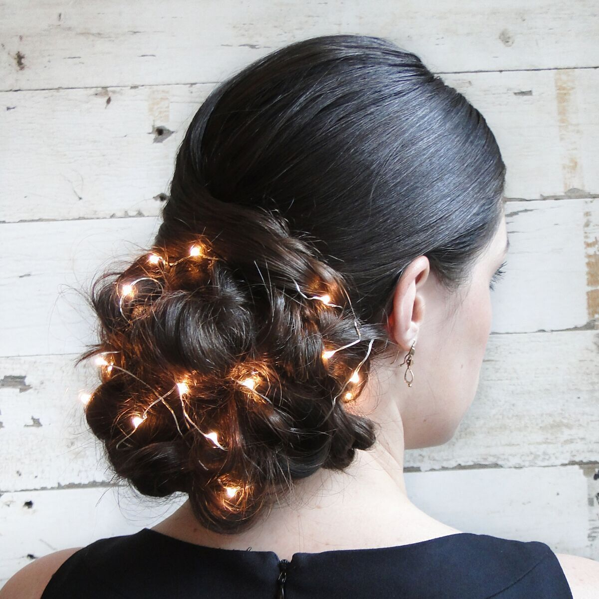 This Sparkling Updo Takes Holiday Hair to the Next Level #holidayhair