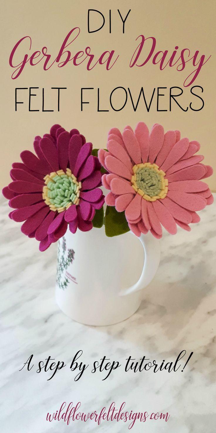 Gerbera Daisy - Felt Flower DIY | Wildflower Felt Designs