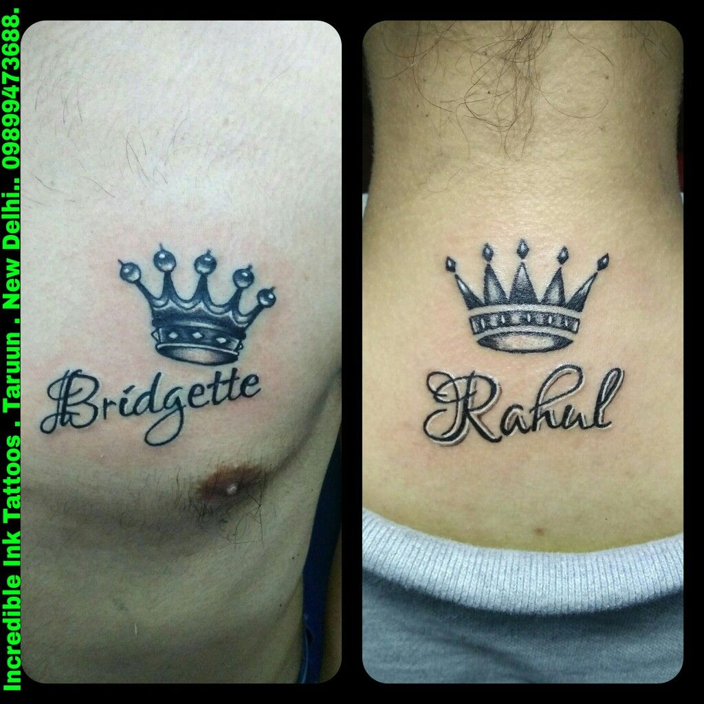 Couple Tattoo Rahul Bridgette Crown Couple Tattoos Rahul Bridgette Crown Believe Tattoos Ink Tattoo Couple Tattoos