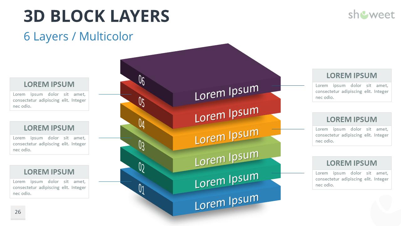 3D Block Layers for PowerPoint - Showeet.com | Powerpoint, Layers, BlocksPinterest
