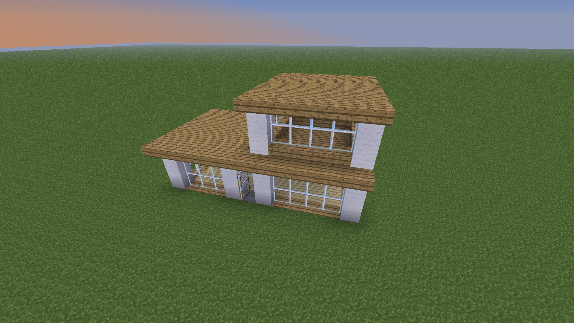 Basic Minecraft House With Blueprints Minecraft Instruction On How To Draw Put A Hous Minecraft Small House Minecraft House Designs Modern Minecraft Houses