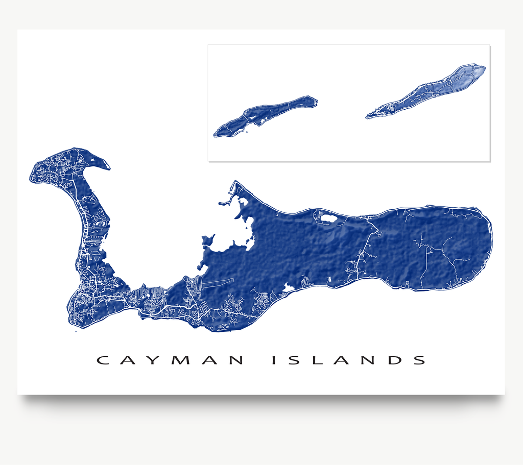 image about Printable Map of Grand Cayman referred to as Cayman Islands Map Print, Caribbean, Shades Caribbean Maps