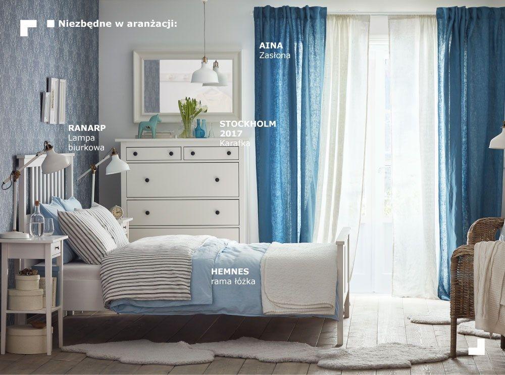 Biało Niebieska Sypialnia Pomysły Do Domu Romantyczne