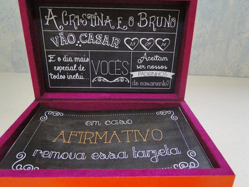 Casando e Amando: Noiva na Área - Convite para o padrinhos - Cristina Stroke