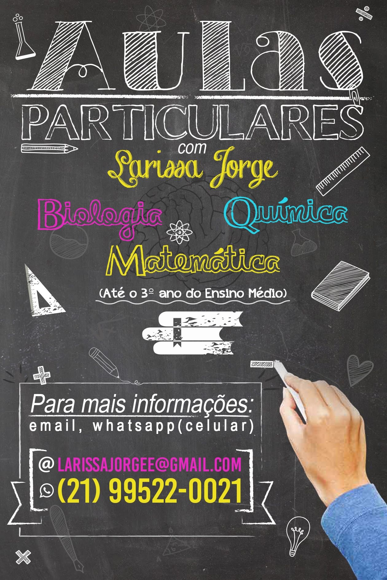Poster Aulas Particulares Com Larissa Jorge Freelancer