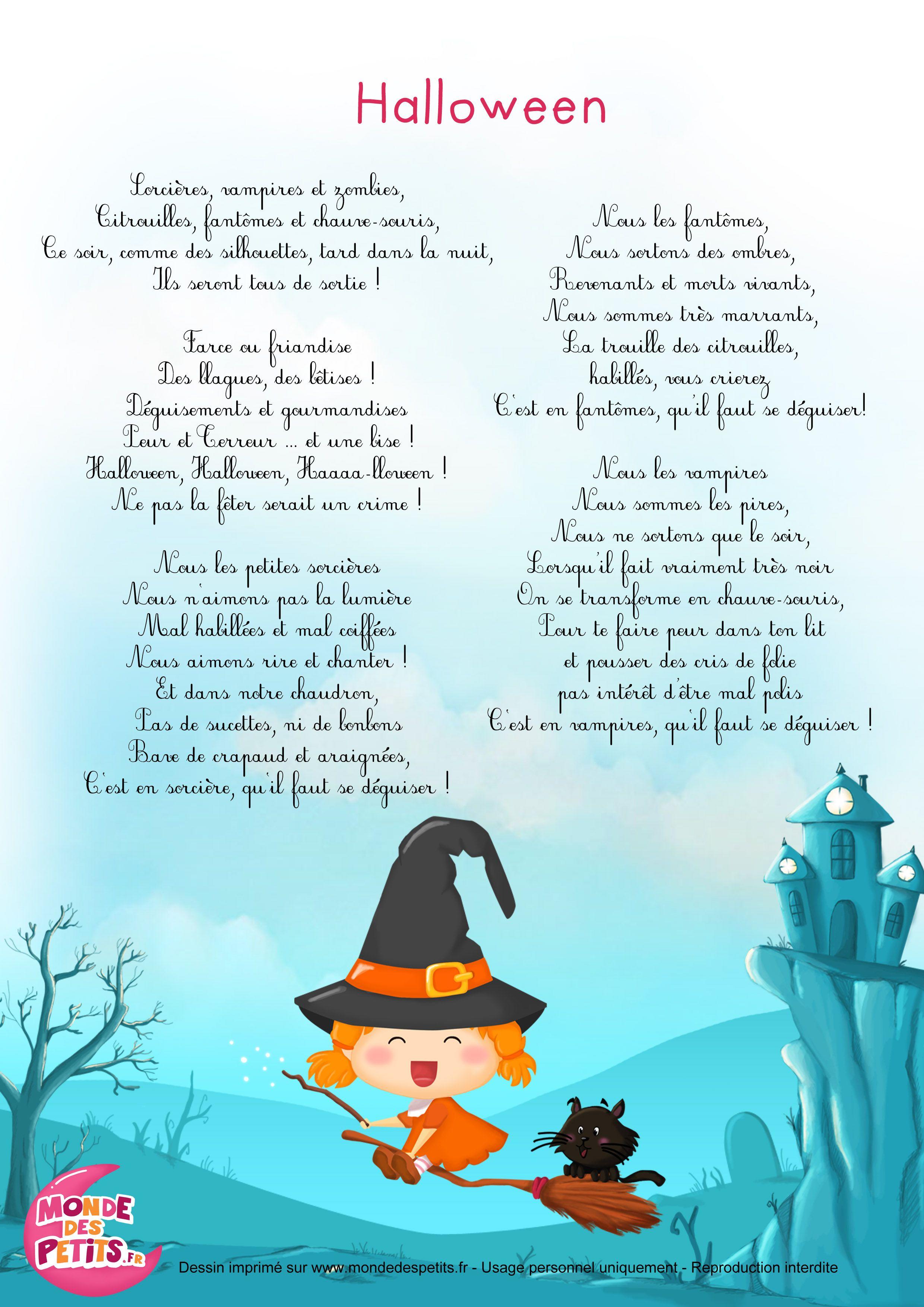 Partition halloween chanson pour enfants comptines - Sorciere halloween a fabriquer ...