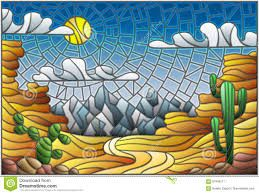 Image result for desert stained glass | Painting ...