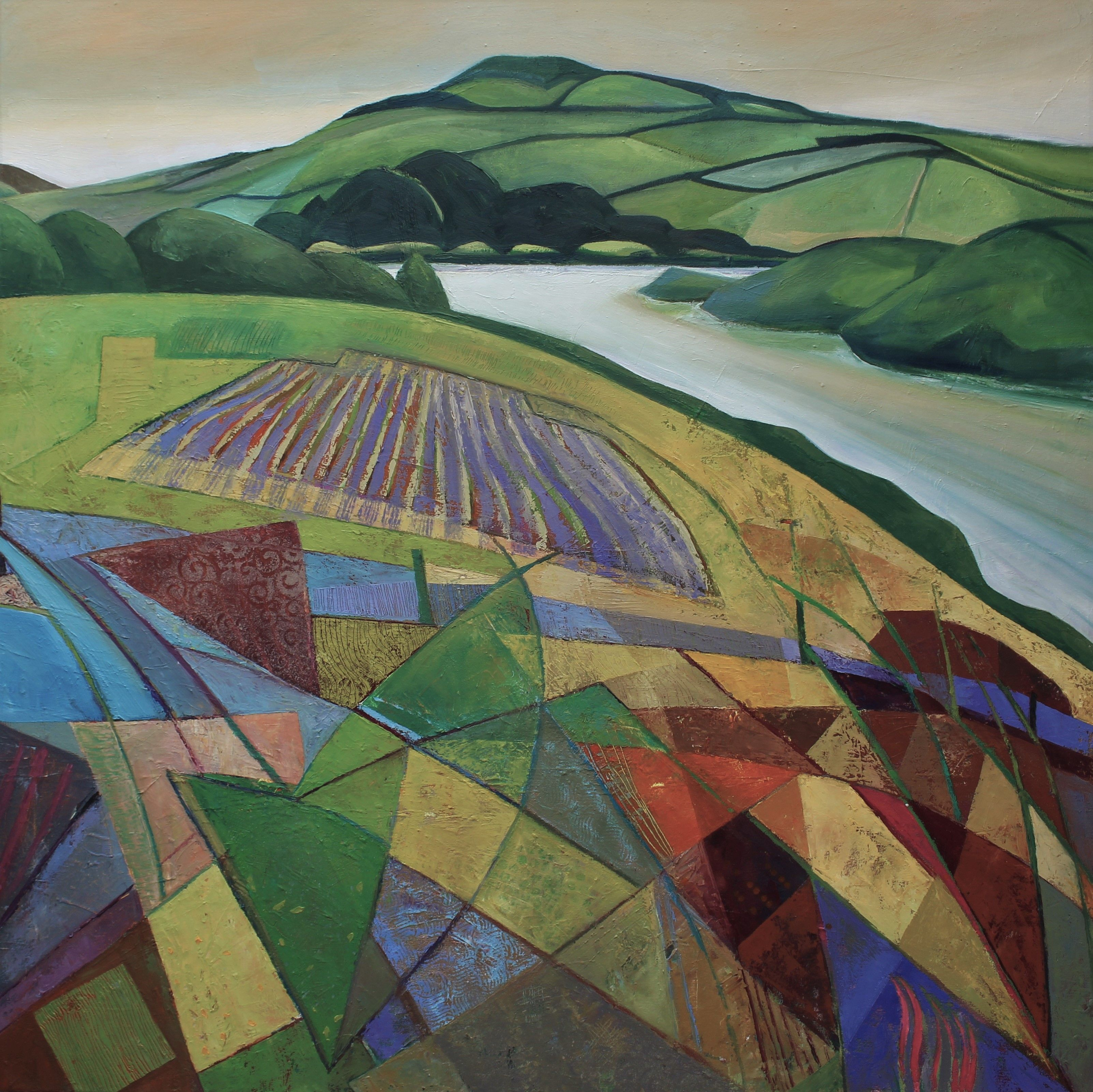 Cut Meadow Large Square Oil On Canvas Artist @Clareshepherdfineart Statement