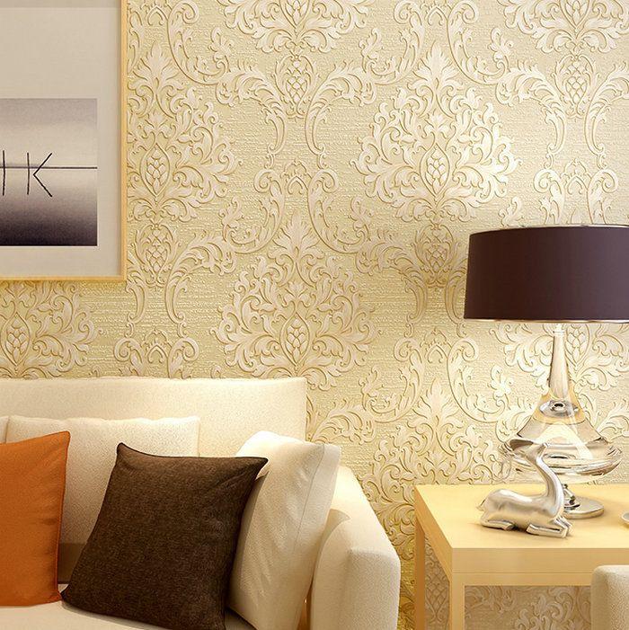 Grátis frete Hot Luxury damasco papel de parede europeu reunindo Wallpapers papel de parede não tecido sala de moda do papel de parede Wp001 em Papéis de parede de Melhorias na casa no AliExpress.com | Alibaba Group