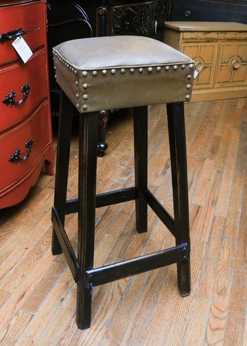 Studded Leather Bar Stool ~ $99