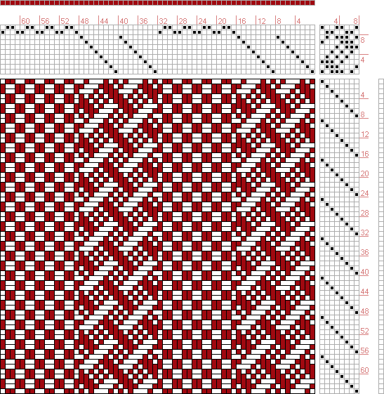 Hand Weaving Draft: Page 175, Figure 1, Textile Design and Color, William Watson, Longmans, Green & Co., 10S, 8T - Handweaving.net Hand Weaving and Draft Archive