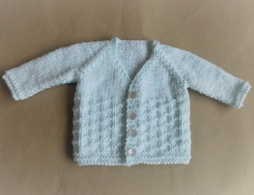 Nevis Top Down V Neck Baby Cardigan Jacket Free Pattern Knitting
