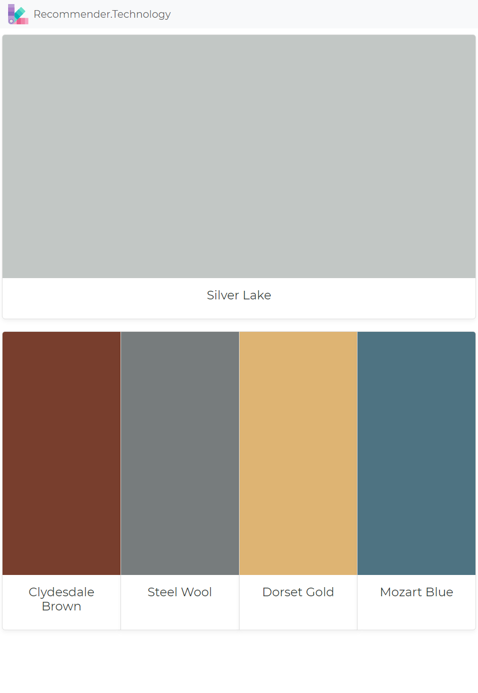Silver Lake Clydesdale Brown Steel Wool Dorset Gold Mozart Blue Silver Color Palette Paint Colors Benjamin Moore Perfect Paint Color