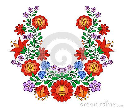 Traditional Hungarian folk embroidery pattern | Bordados | Pinterest ...