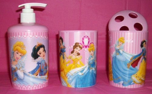 cool Disney Princess Pink Bathroom Set/ Toothbrush Holder/Soap ...