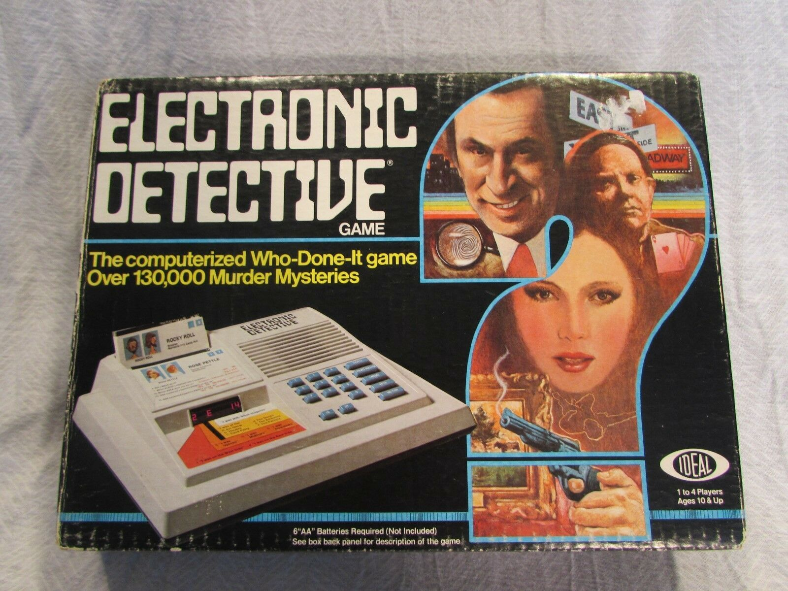 Unpunched Electronic Detective Board Game Ideal 1979 Don