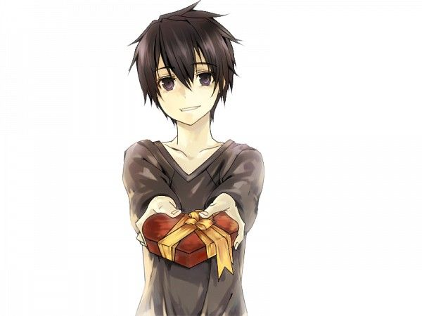 "Sword Art Online SAO Kirito it's like he's saying ""Here, have a gift"""
