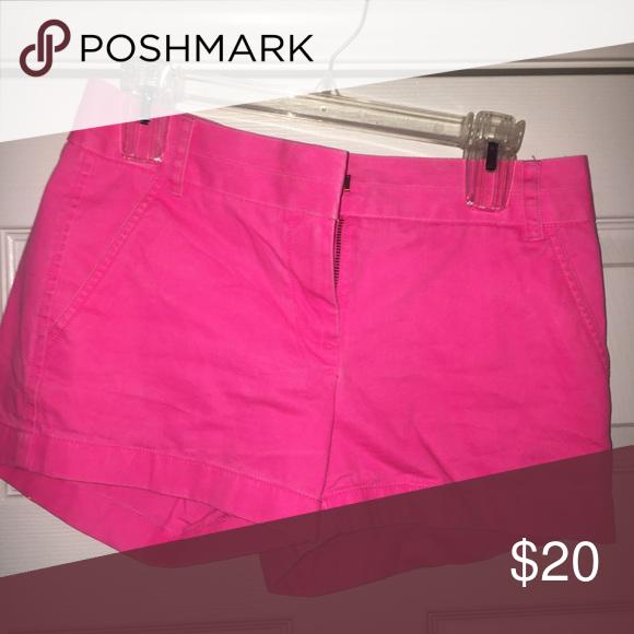 Chino shorts - hot pink Hot pink J crew Chino J. Crew Shorts Jean Shorts