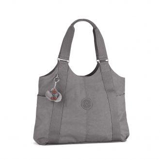 Official Website detailed look 100% high quality Kipling Cicely Shoulder / Shopper Bag - Celo Grey   Bagable ...