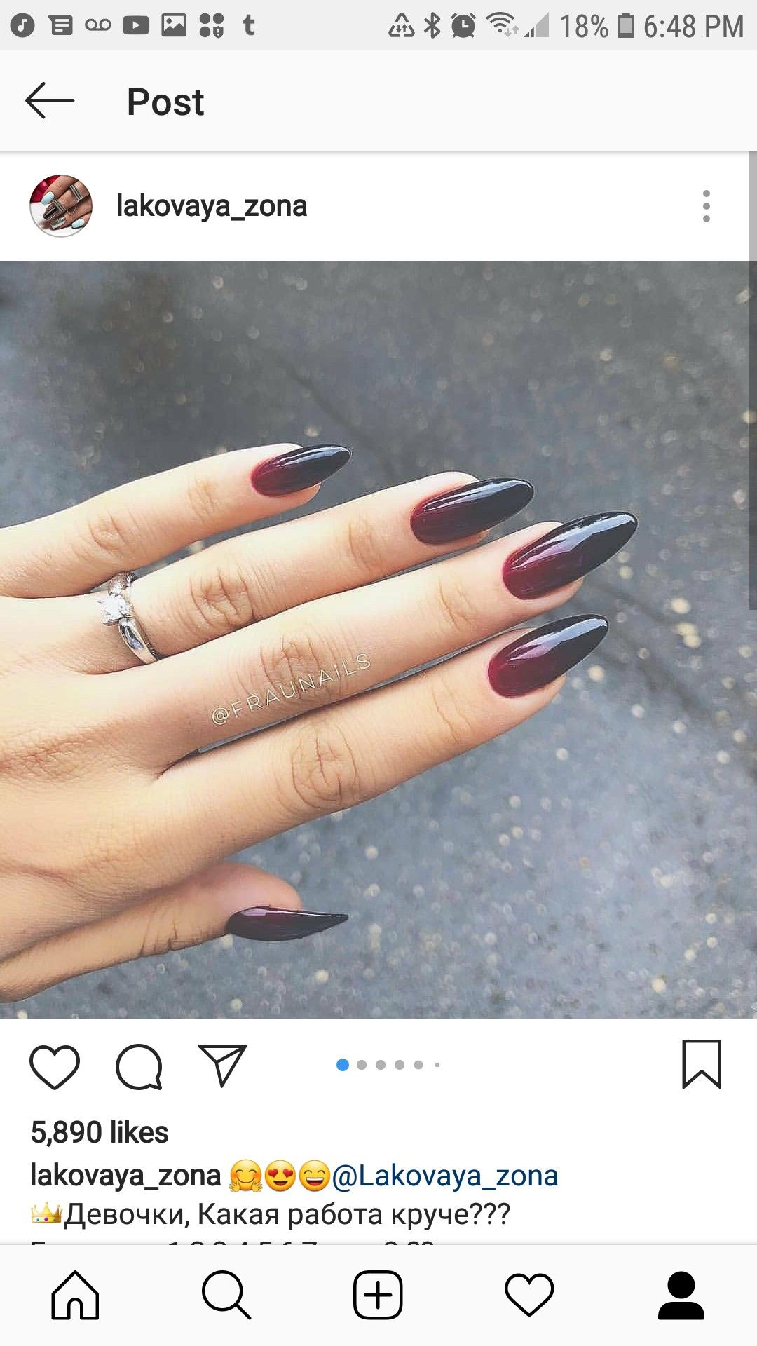 Ombre Red And Black Almond Nails Red Nails Black Ombre Nails Black Almond Nails