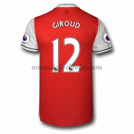 Billige Fodboldtrøjer Arsenal 2016-17 Giroud 12 Kortærmet Hjemmebanetrøje