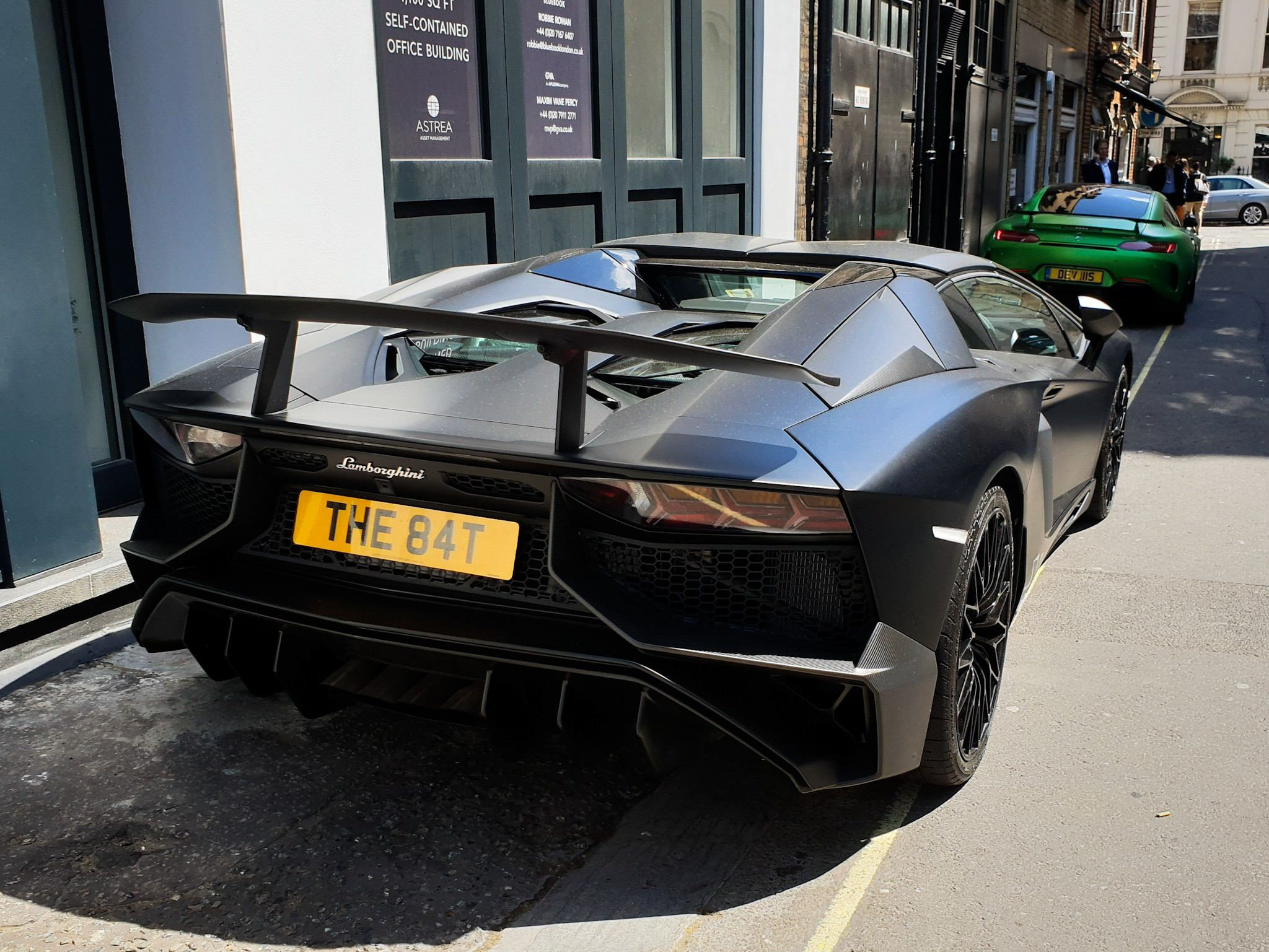Aventador Sv With The Bat License Plate In London Super Fast Cars Luxury Cars Sports Car