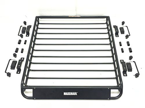 Maxxhaul 70115 Universal Steel Roof Rack Car Top Cargo Carrier Basket 46 X 36 X 4 1 2 150 Lb Capacity In 2020 Roof Rack Cargo Carrier Kayak Roof Rack