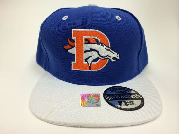 Broncos Old and New emblem logo Hat Cap Snapback Colorado Denver ... c0977245c